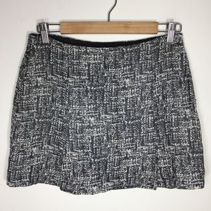 Joie • black white tabby tweed mini skirt